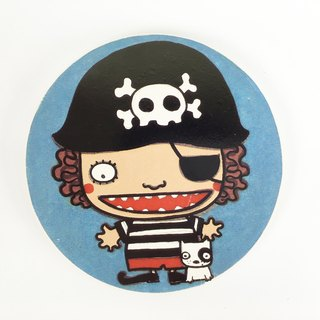 Nice Little Clay illustration absorbent ceramic coasters _ small pirate M 5703
