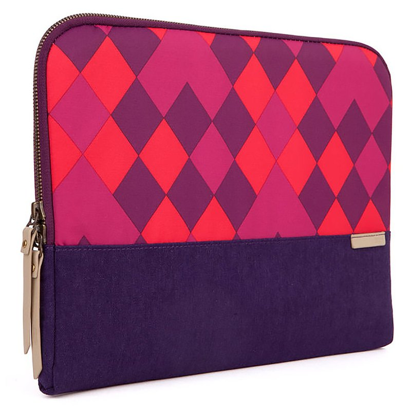 [STM] Grace Sleeve 15吋 Fashion plaid pen electric inner bag / shockproof bag (purple)