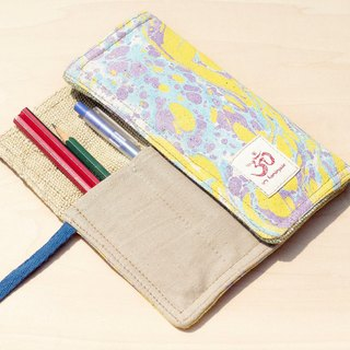 Hand-painted rendering Pencil / feel Reel / spring rolls Pencil - water color pen house 10 (blue strap)