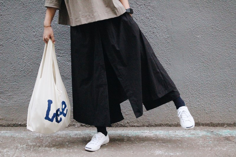 Homemade / two layer culottes - black