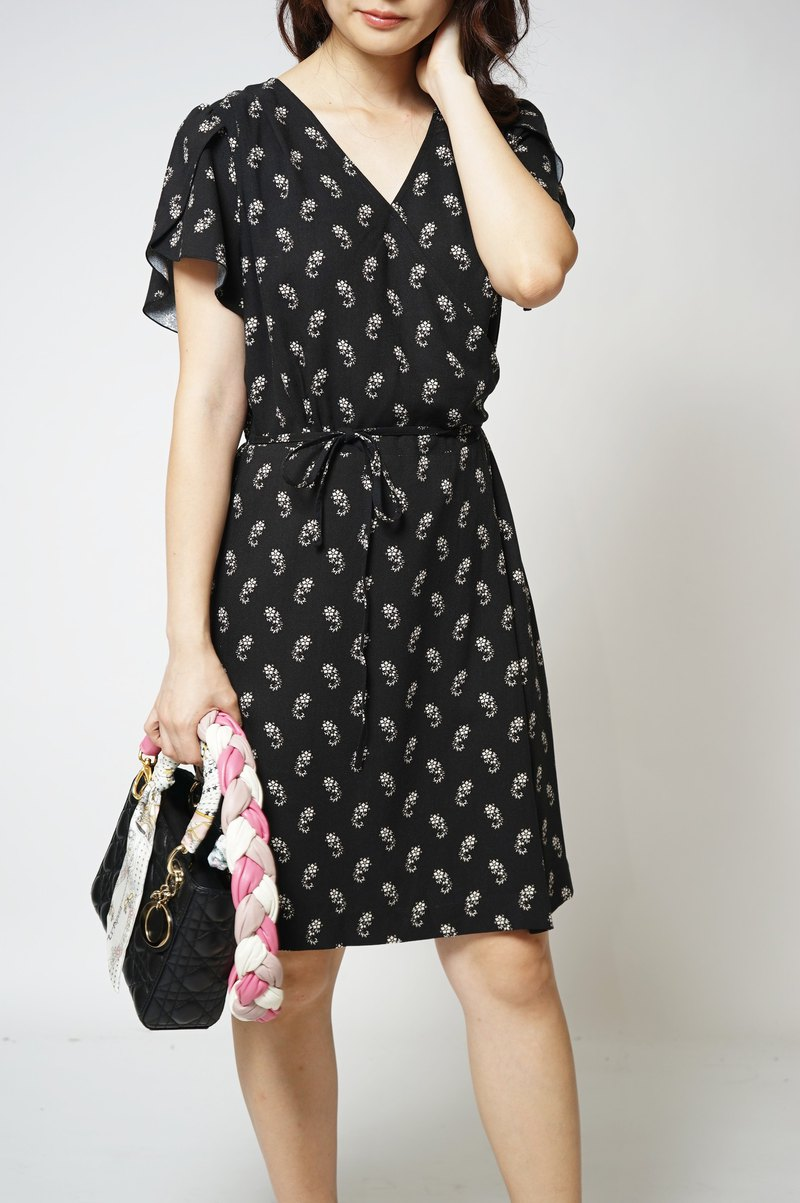 MIT European Fabric French Amoeba Floral Dress (R5058E)