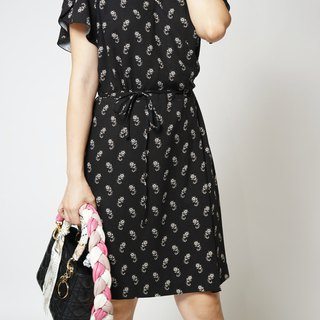 MIT European cloth French amoeba flower dress