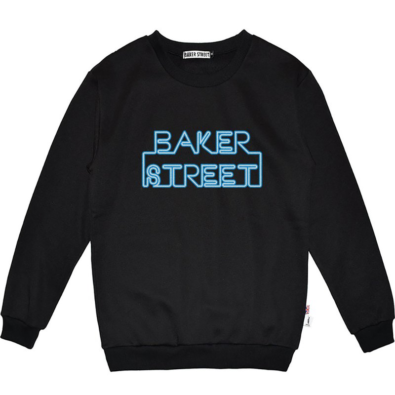 British Fashion Brand -Baker Street- Neon Board Printed Sweatshirt