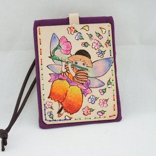 Leather ID card holder Angel-3