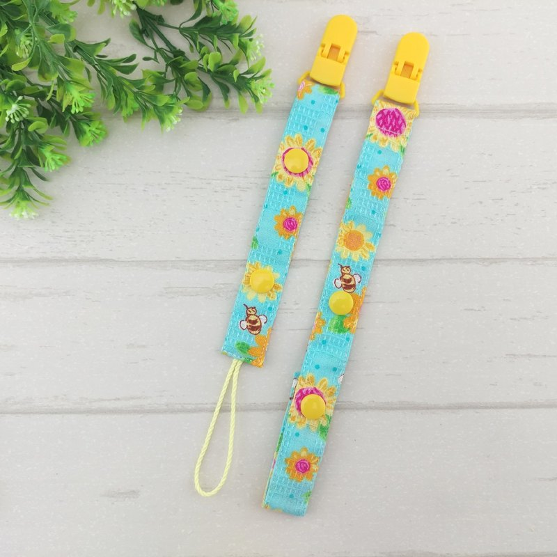 Passionate sunflowers. 2-stage length manual pacifier chain (for vanilla nipples)