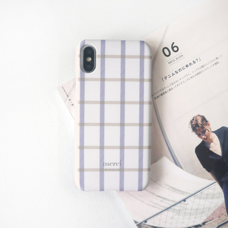 Beige Plaid Scarf Phone Case