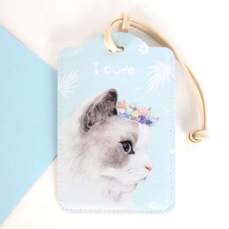 i card water blue universal card set - H6. Persian cat - luggage tag certificate tag