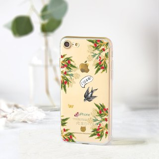Floral clear phone case iPhone 8 Case Samsung A5 case Samsung j7 pro Sony xa1