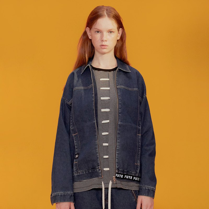 UNISEX WARM DENIM JACKET / Indigo
