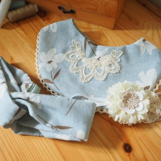 Handmade Baby Bib and headband gift set