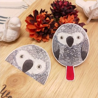 Rolia's hand made African grey parrot waterproof sticker