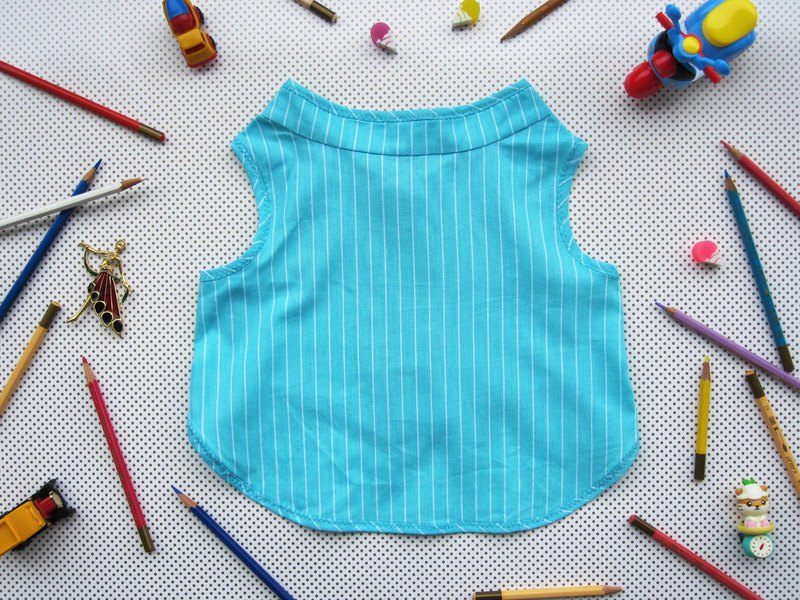 L,XL,XXL_Stripes theme!!!_Mint Vest_ Dog Clothes