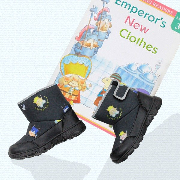 Children water resistant boots –Black– (The price includes  boots and book
