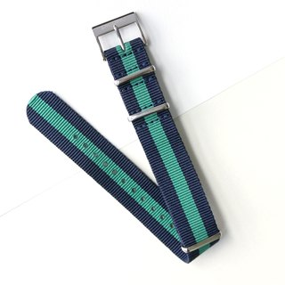 【PICONO】Double color Nylon strap-Blue and green