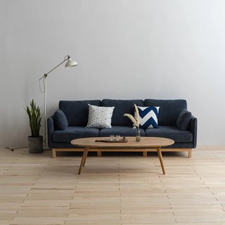 Lushan Workshop - Cloth Sofa - Detachable - Elm Furniture - Back Sofa - Three-seat Sofa - Chaise Longue