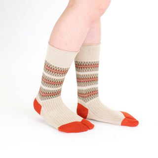 Jacquard pattern toe socks