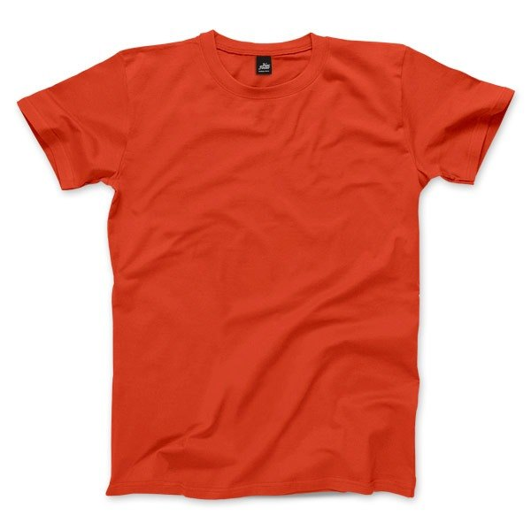 Neutral plain short-sleeved T-shirt - Orange