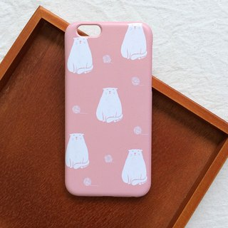 Fat Cat with Yarn Ball - Powder Phone Case Hard Case iPhone Android