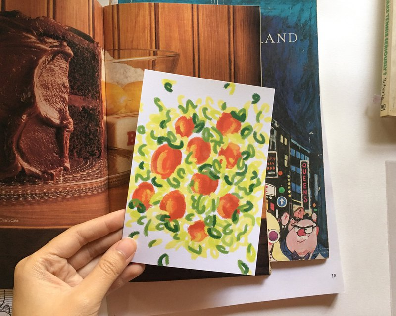 In the backyard Postcard 03 – Apple