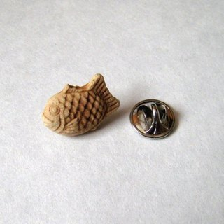Pin badge of Taiyaki
