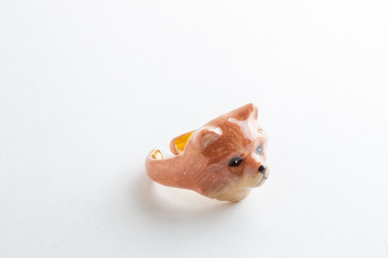 Red-brown Pomeranian Ring