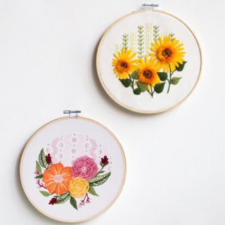 Monet Garden | DIY material package handmade fabric material package sunflower three-dimensional embroidery entry