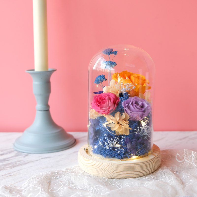Glass Bell / Blue / Orange / Purple / Not Withered / Eternal Flower / Dry Flower / Tanabata / Valentine's Day