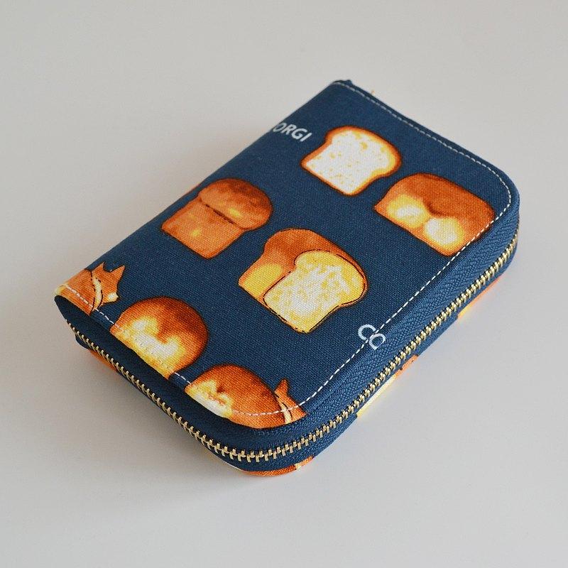 面包和柯基 棉布錢包/短款錢包/短夾/禮物