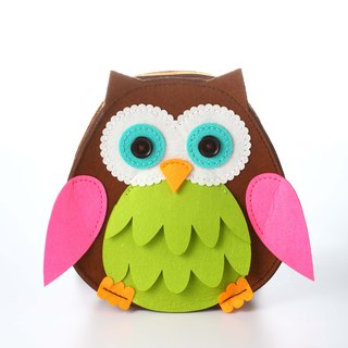 Fairy Land [Material Bag] Owl Backpack - Green