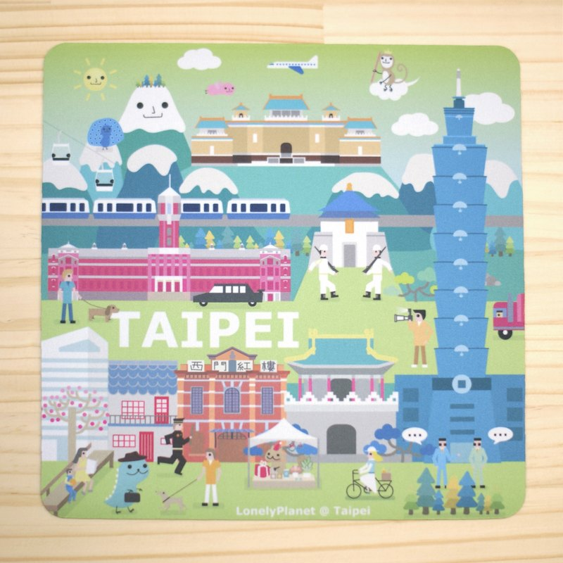 Lonely Planet 2.0 Mouse Pad - Taipei Street View