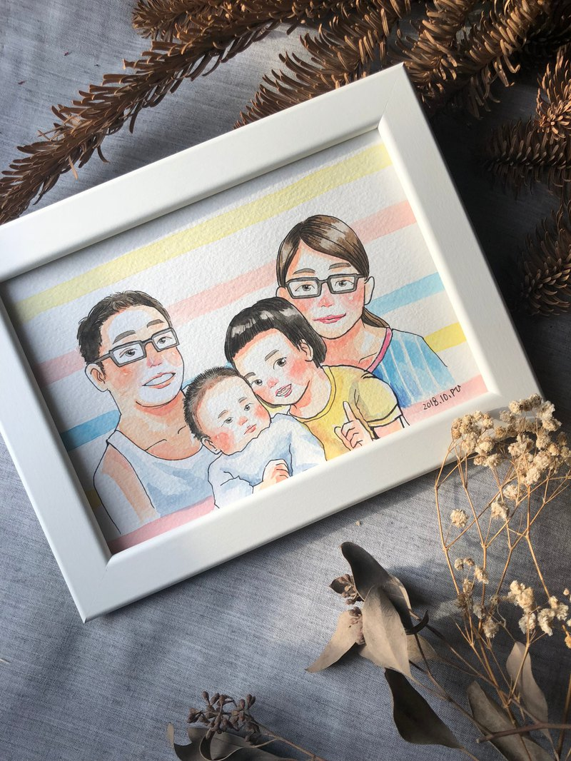 Custom Q version portrait illustration like painting - five graduation gifts