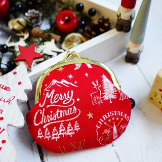 2018 Christmas limited edition gold bag - modern red Christmas - with ornaments
