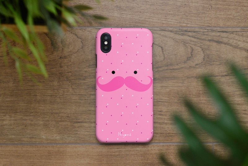 iphone case pink mustache man for iphone5s, 6s, 6s plus, 7, 7+, 8, 8+, iphone x