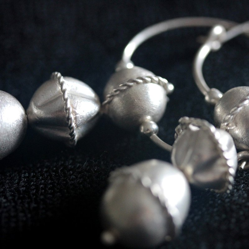 Ancient Slavonic jewelry inspired silver earrings (E0114)