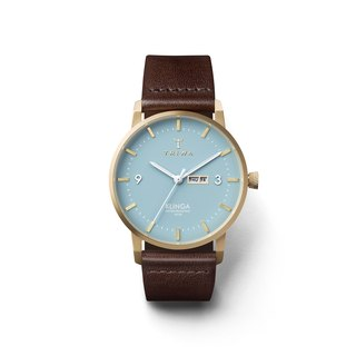 TRIWA ARCTIC KLINGA Brown Leather Strap Watch