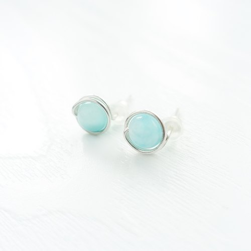 GENIES - Amazonite Silver Earrings Clip On Earrings Piercing Earrings Ear Cuffs