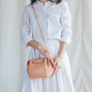 CUDDLE BAG - WOMEN MINIMAL LEATHER SHOULDER BAG/HANDBAG- PINK