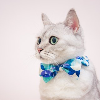 -NEW- Bow elastic collar pet bow tie bow tie -- and circle _S