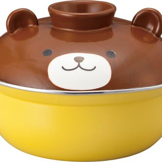 Japanese sunart enamel pot - brown bear 2.7L