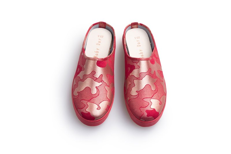 "Christmas red gold ""Baby Day"" MIT pearl camouflage casual shoes ""women shall"" red gold shoes paternity shoes"