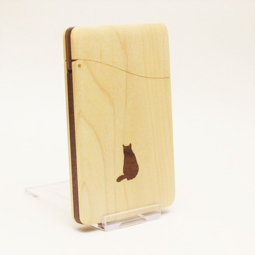 """cat no.2"" name-card holder Maple and Walnut"