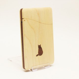 "business card holder ""cat no.2"" name-card holder Maple and Walnut"