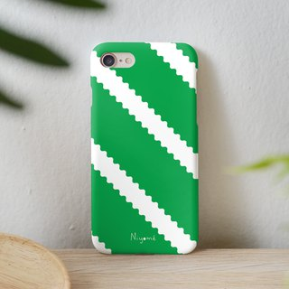zigzag on green iphone case สำหรับ iphone7 iphone 8, iphone 8 plus ,iphone x
