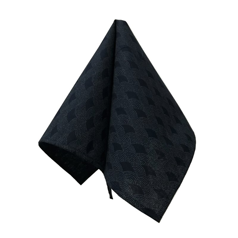 CAVEMAN Pocket Square - Sashiko Wave