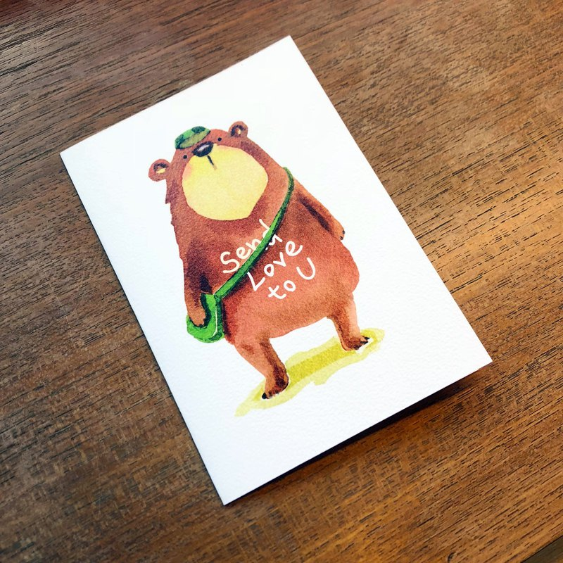 Bear love to u universal card christmas gift