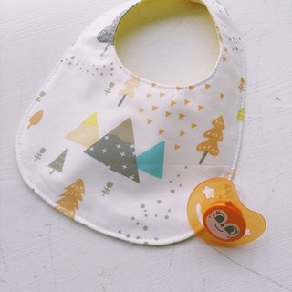Hairmo. Triangular forest handmade baby bib / saliva towel