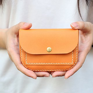 森下树SENSIASHU / small saddle double purse / a total of 11 colors / European vegetable yak leather