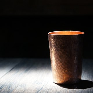 Copper hammer eye pattern powder cup coffee cup
