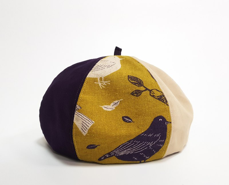 Summer must wear Wenqing pumpkin hat - Sparrow (purple) #棉布#拼布#Summer #造型#画家帽帽