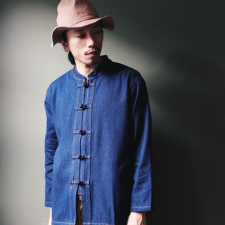 Omake Chinese knot Denim Shirt